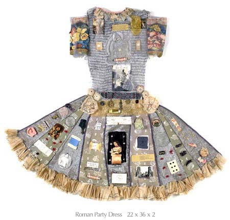janet cooper dresses as assemblages artifacts trinkets inspired by