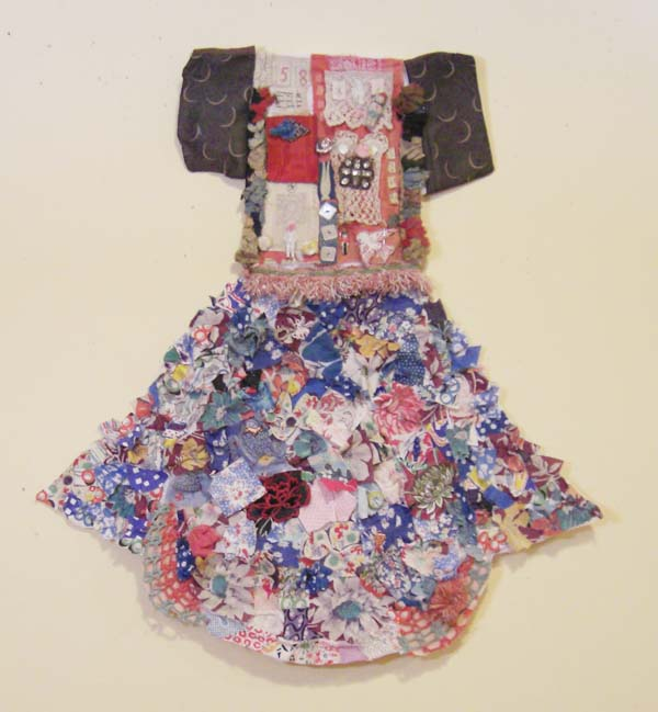 Assemblage Skirt - Nonpatterned Color Field of Fabric Scraps