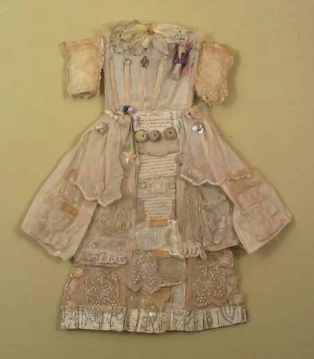 Lace and Porcelain Dolls Party Assemblage Dress