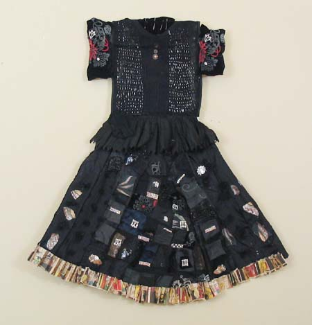 Rhinestone Embellished Party Assemblage Dress